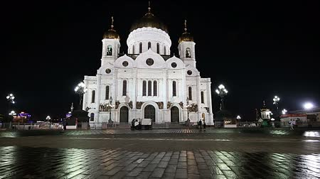 saviour : Christ the Savior Cathedral (at night), Moscow, Russia
