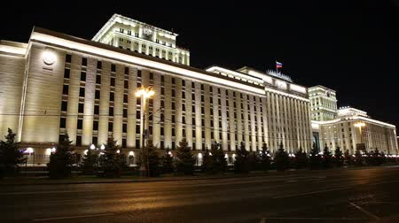вооружены : The Ministry of Defense of the Russian Federation (Minoboron), at night-- is the governing body of the Russian Armed Forces. Moscow, Russia