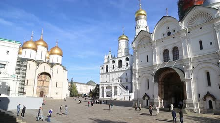 museum : Inside of Moscow Kremlin, Russia (day)