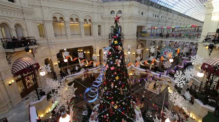 камедь : Interior Main Universal Store (GUM) in Holidays, Red Square, Moscow, Russia.