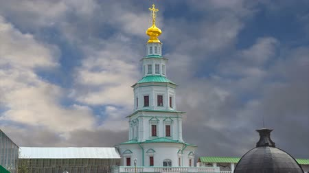 bell tower : Resurrection Monastery, Russian Orthodox Church in Moscow region, Russia
