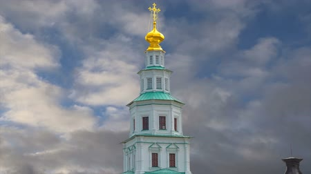 torre sineira : Resurrection Monastery, Russian Orthodox Church in Moscow region, Russia