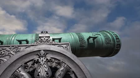 pozlacený : The Tsar Cannon against the sky, Moscow Kremlin, Russia