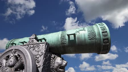 pozlacený : Cannon against the sky, Moscow Kremlin, Russia, Moscow, Russia - is a large, 5.94 meters (19.5 ft)