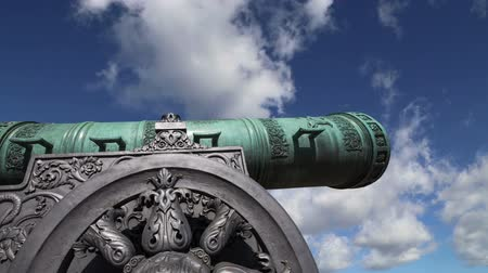 kanon : Cannon against the sky, Moscow Kremlin, Russia, Moscow, Russia - is a large, 5.94 meters (19.5 ft)