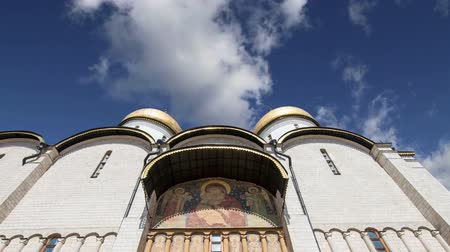 assumption : Assumption Cathedral (Uspensky Cathedral) against the sky. Inside of Moscow Kremlin, Russia (day)