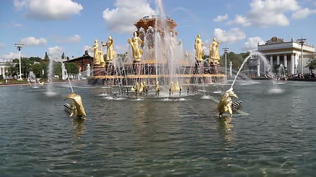 imparatorluk : Fountain Friendship of Nations (1951-54, The project of the fountain by architects K. Topuridze and G. Konstantinovsky) - VDNKH (All-Russia Exhibition Center), Moscow, Russia