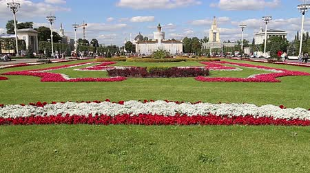 comunismo : Landmarks in the territory of VDNKh (All-Russia Exhibition Center, also called All-Russian Exhibition Center), Moscow, Russia. Stock Footage