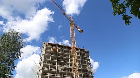 fejlesztése : Multi-storey building under construction (new residential complex). Construction site upon renovation program in Cheryomushki district, Moscow, Russia