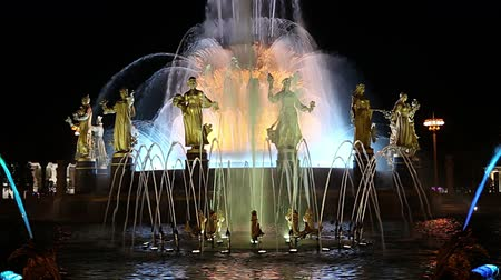 коммунизм : Fountain Friendship of Nations (1951-54, The project of the fountain by architects K. Topuridze and G. Konstantinovsky) - VDNKH (All-Russia Exhibition Center), Moscow, Russia