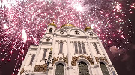 retter : Fireworks over the Christ the Savior Cathedral, Moscow, Russia. Videos