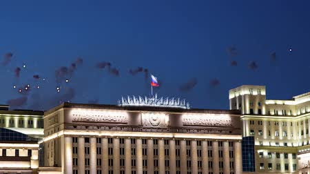 federation : Fireworks over the Main Building of the Ministry of Defense of the Russian Federation (Minoboron) - is the governing body of the Russian Armed Forces. Moscow, Russia