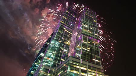 conhecido : Fireworks over the Skyscrapers of the International Business Center (City), Moscow, Russia Vídeos