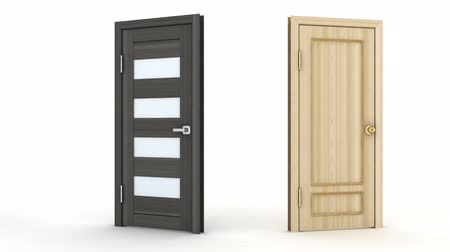 advertizing : Six advertising doors, seamless loop. 3d render