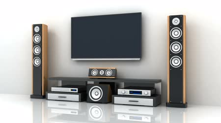 TV and audio electronics and alpha channel. 3d render