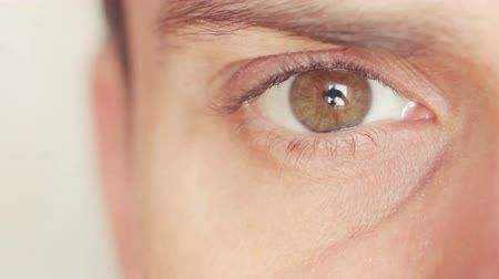 olhos verdes : Eye close up Stock Footage