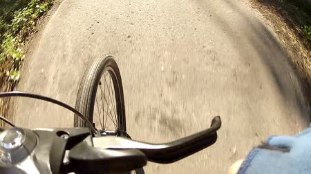treadle : Gear change bike while riding Stock Footage