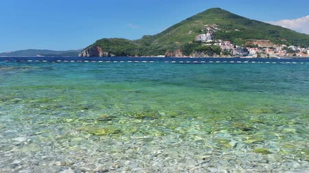 Черногория : Coast of the Adriatic Sea, Budva opposite the island of St. Nicholas