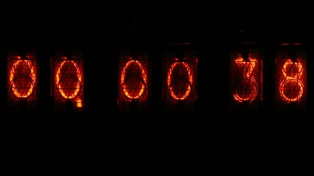 zegar : Digital clock countdown - orange numbers