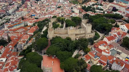 comercio : Lisbon from a birds eye view. Castle of St. George