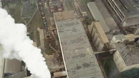 reactor : Factory smoke stack - Oil refinery, petrochemical or chemical plant Stock Footage