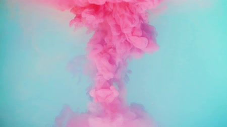 damla : Color drop underwater creating a silk drapery. Ink swirling underwater