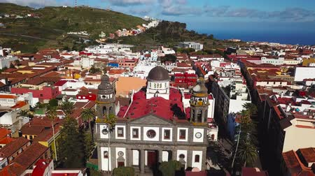 плотно : View from the height on Cathedral and townscape San Cristobal De La Laguna, Tenerife, Canary Islands, Spain