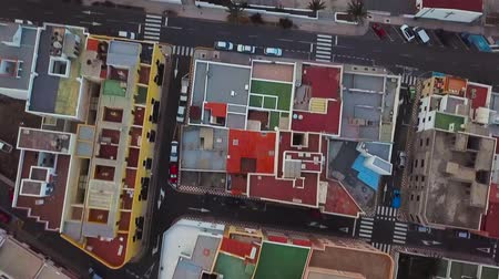 felosztás : Top view of the roofs of residential buildings. Tenerife, Canary Islands, Spain