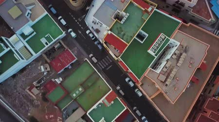 residencial : Top view of the roofs of residential buildings. Tenerife, Canary Islands, Spain