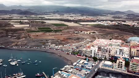 piccolo : View from the height of the city on the Atlantic coast at sunset. Tenerife, Canary Islands, Spain