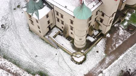 оборонительный : View from the height of the castle in Nowy Wisnicz in winter, Poland