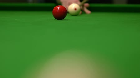 brancos : Close up of snooker shooting on snooker table