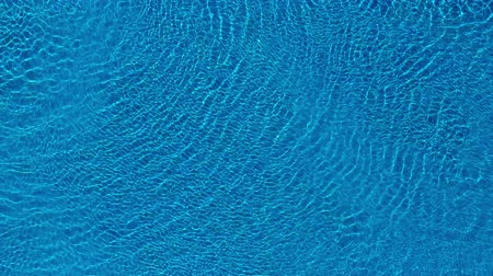relaks : Topview from a drone over the surface of the pool