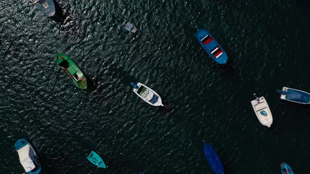 vessels : Rise above the many anchored boats off the coast. Las Teresitas, Tenerife, Canaries, Spain