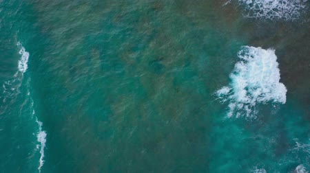 fuzileiros navais : Top view of the desert stony coast on the Atlantic Ocean. Coast of the island of Tenerife. Aerial drone footage of sea waves reaching shore