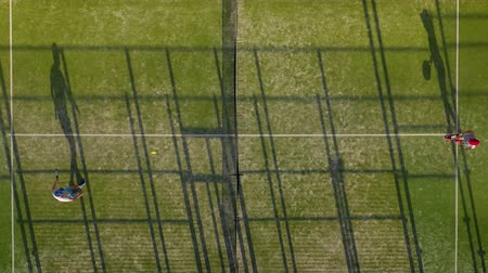 mistrovství : View from the height of the tennis court where people play in the tennis