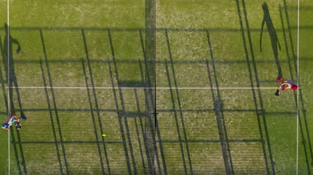 tennis stadium : View from the height of the tennis court where people play in the tennis