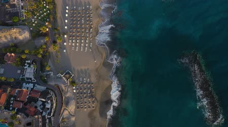 юг : Aerial view of Los Cristianos, Las Americas and Adeje, Canary Islands, Tenerife, Spain