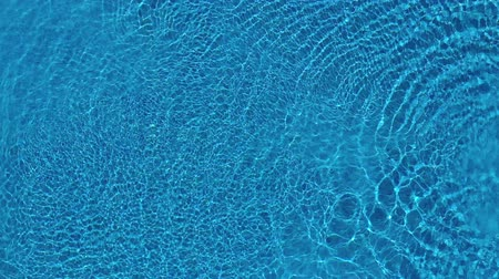 vízfelület : Top view from a drone over the surface of the pool