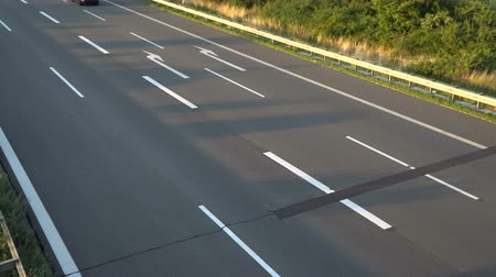 brancos : Asphalt highway texture. No traffic Stock Footage