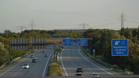 Traffic on highway with cars. Germany