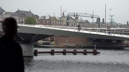 rosário : Beautiful pedestrian, bicycle bridge over the canal. Denmark. Copenhagen. Architecture Sights Travels