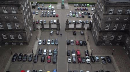 Empty parking lots, aerial view