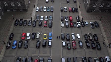 vacant : Empty parking lots, aerial view