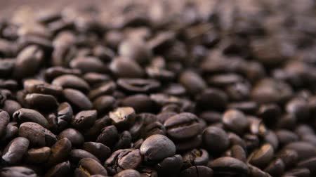 rosto : Roasted Coffee Beans Panorama. Light Spot