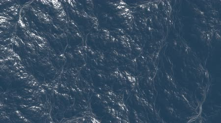 lake sea : Wavy water. Animation blue ocean.