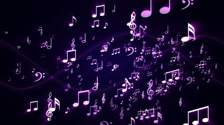 evangélium : Music Notes Background Random, Animation, Rendering, Loop, 4k
