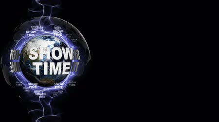 discoteca : SHOWTIME Text Animation Around the World, Rendering, Background, Loop Vídeos