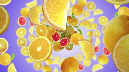 cytryna : Falling LEMONS Background, Loop, Animation, Rendering, with Alpha Channel