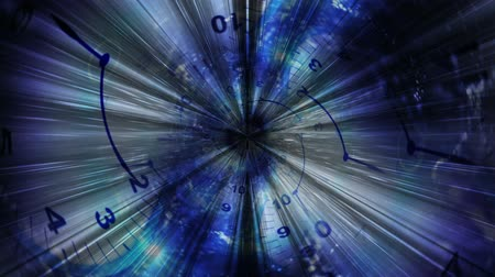 temporal : Clock and Technology Abstract, Background, Animation, Rendering, Time Travel Concept, Loop